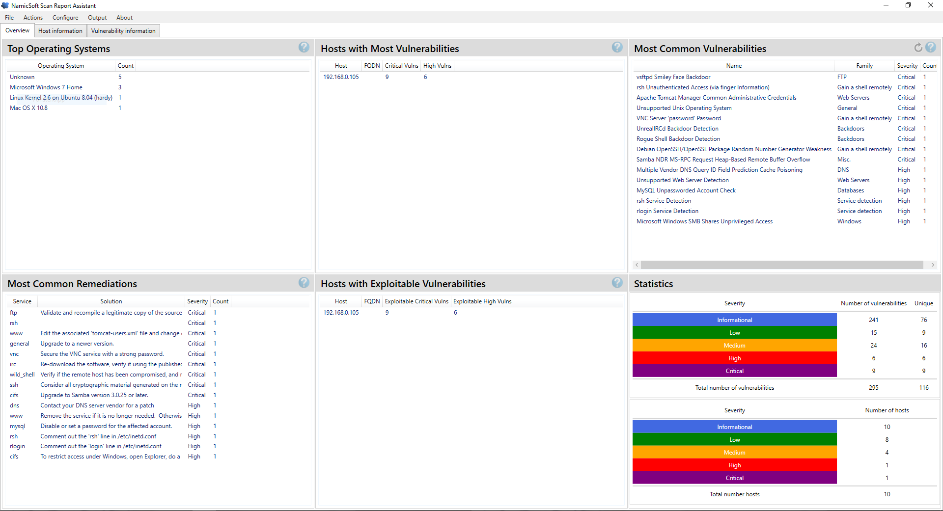 Create Nessus reports with an easy-to-use GUI | NamicSoft